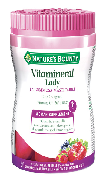VITAMINERAL LADY 60 GOMMOSE MASTICABILI - Farmaseller
