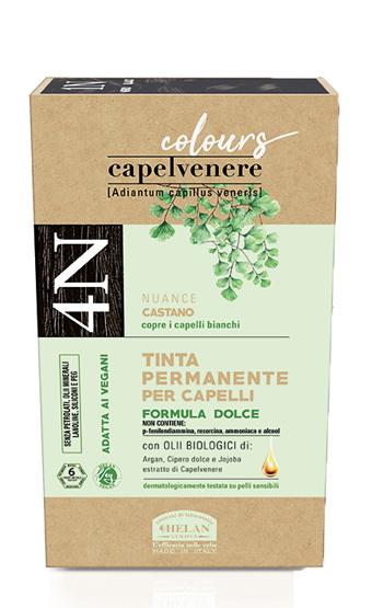 CAPELVENERE COLOURS TINTA CAPELLI 4N CASTANO - Farmaedo.it