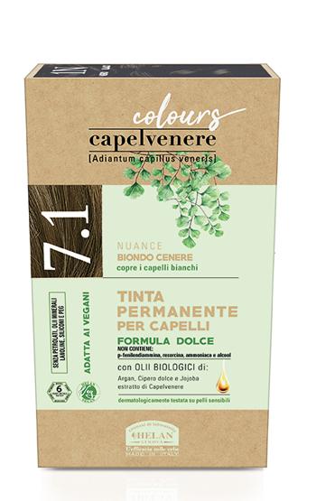 CAPELVENERE COLOURS TINTA CAPELLI 7,1N BIONDO CENERE - Farmaedo.it