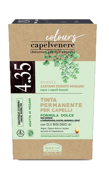 CAPELVENERE COLOURS TINTA CAPELLI 4,35N CASTANO DORATO MOGANO - Farmaedo.it