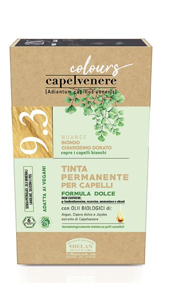 CAPELVENERE COLOURS TINTA CAPELLI 9,3N BIONDO CHIARISSIMO DORATO - Farmaedo.it
