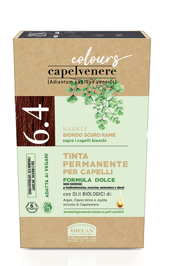 CAPELVENERE COLOURS TINTA CAPELLI 6,4N BIONDO SCURO RAME - Farmaedo.it