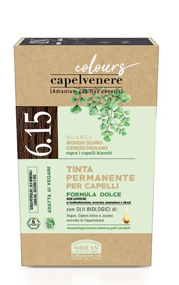 CAPELVENERE COLOURS TINTA CAPELLI 6,15N BIONDO SCURO CENERE MOGANO - Farmaedo.it