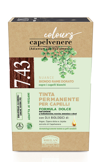 CAPELVENERE COLOURS TINTA CAPELLI 7,43N BIONDO RAME DORATO - Farmaedo.it