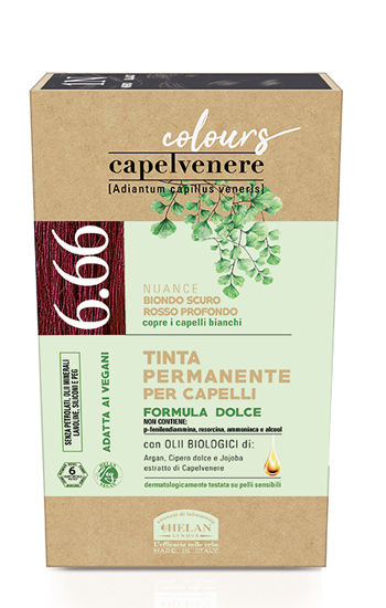 CAPELVENERE COLOURS TINTA CAPELLI 6,66N BIONDO SCURO ROSSO PROFONDO - Farmaedo.it