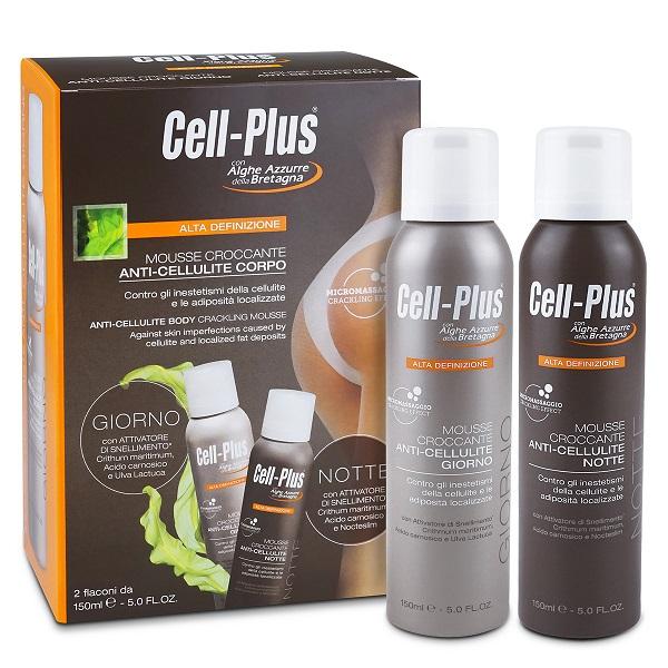 CELL-PLUS ALTA DEFINIZIONE MOUSSE CROCCANTE GIORNO E NOTTE EDIZIONE LIMITATA 150 ML X 2 - farmaventura.it