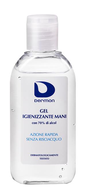 DERMON GEL IGIENIZZANTE MANI 100 ML 70% ALCOOL - Farmacielo