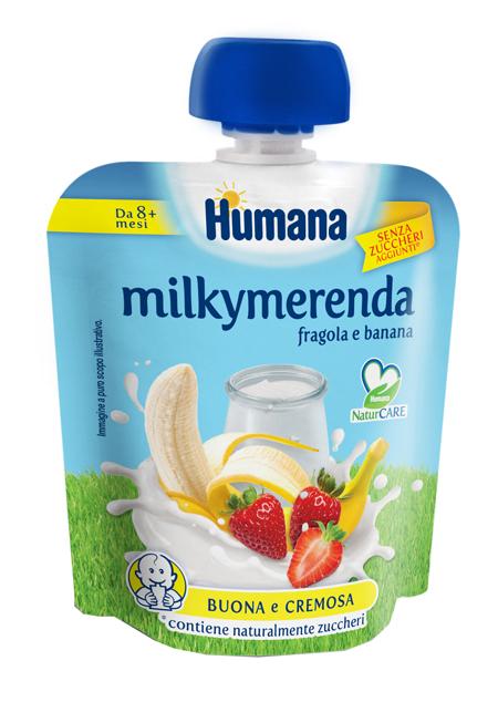 MILKYMERENDA FRAGOLA BANANA 100 G - Farmaseller