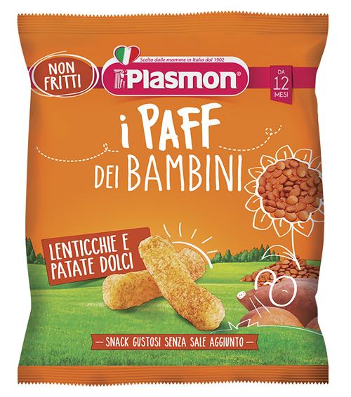 PLASMON DRY SNACK PAFF LENTICCHIE-PATATA DOLCE 15 G - Farmaseller