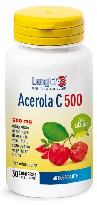 LONGLIFE ACEROLA C500 LIMONE 30 COMPRESSE - Farmaseller