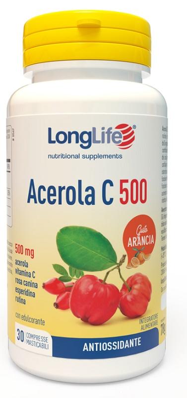 LONGLIFE ACEROLA C500 ARANCIA 30 COMPRESSE - Farmaseller