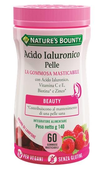 NATURE'S BOUNTY ACIDO IALURONICO PELLE 60 GOMMOSE MASTICABILI - Farmaci.me