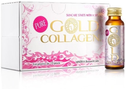GOLD COLLAGEN PURE TRATTAMENTO MENSILE 30 FLACONI X 50 ML - Farmastop