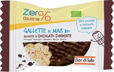 ZER% GLUTINE GALLETTE MAIS RICOPERTE CIOCCOLATO FONDENTE BIO 32 G - farmasorriso.com