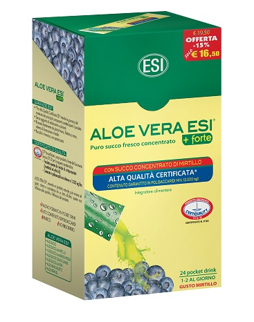 ESI ALOE VERA 24 POCKET DRINK MIRTILLO 24 POCKET 20 ML - Carafarmacia.it