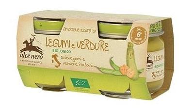 OMOGENEIZZATO LEGUMI E VERDURE BABY FOOD BIO 2 X 80 G - Farmastar.it