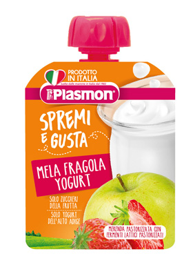 SPREMI E GUSTA FRAGOLA MELA YOGURT 85 G - Spacefarma.it