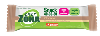 Enervit EnerZona Snack 40-30-30 Cookie Ricoperta Di Cioccolato Bianco Barretta 23g - Parafarmacia Tranchina