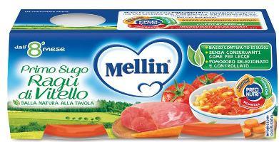 MELLIN PRIMOSUGO RAGU' DI VITELLO 2 VASETTI DA 80 G - FarmaHub.it