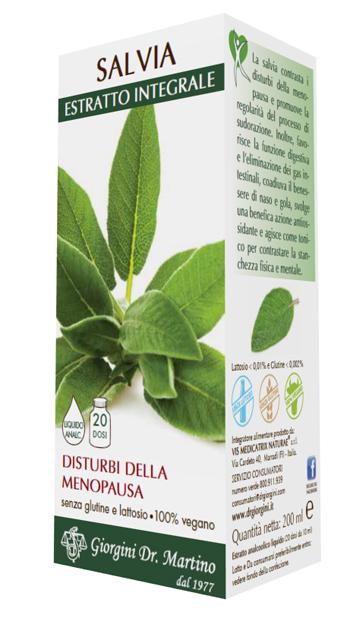 SALVIA ESTRATTO INTEGRALE 200 ML - Farmacia Centrale Dr. Monteleone Adriano