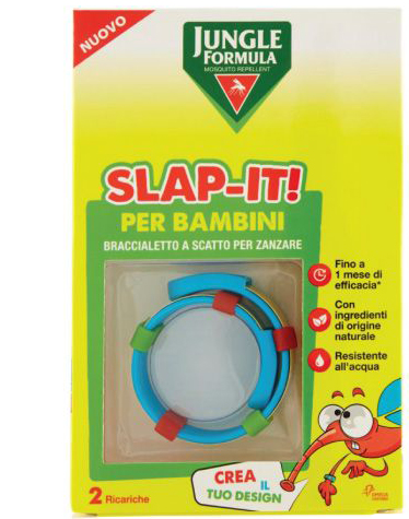 JUNGLE FORMULA SLAP-IT BRACCIALETTO ANTI-ZANZARE PER BAMBINI+ 2 RICARICHE - Farmaunclick.it