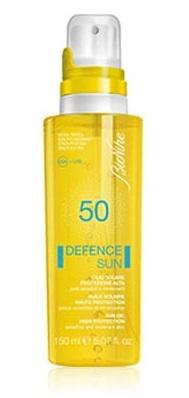 DEFENCE SUN 50 OLIO SOLARE PROTEZIONE ALTA 150 ML - Antica Farmacia Del Lago