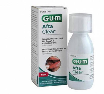 GUM AFTACLEAR RINSE 120 ML COLLUTORIO - Farmabros.it