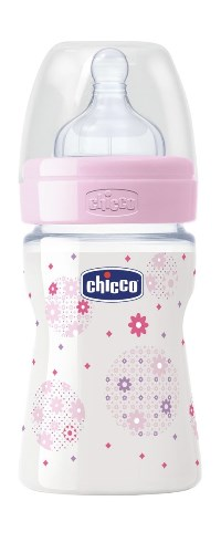 CHICCO BIBERON WELL BEING IN POLIPROPILENE GIRL DA 150 ML NORMAL SILICONE ITA - Parafarmacia Tranchina