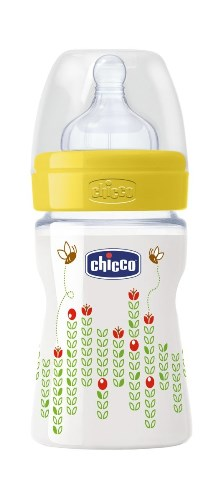 CHICCO BIBERON WELL BEING IN POLIPROPILENE UNISEX DA 150 ML NORMAL SILICONE ITA - La farmacia digitale