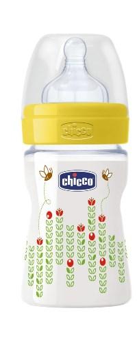 CHICCO BIBERON WELL BEING IN POLIPROPILENE UNISEX DA 150 ML NORMAL SILICONE ITA - Farmacia Bisbano