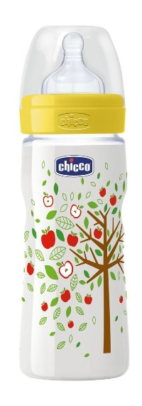 CHICCO BIBERON WELL BEING IN POLIPROPILENE UNISEX DA 330 ML FAST SILICONE ITA - Spacefarma.it