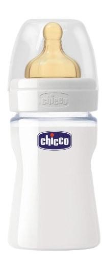 CHICCO BIBERON WELL BEING IN VETRO NON DECORATORATO DA 150 ML NORMAL LATTICE - Farmabros.it
