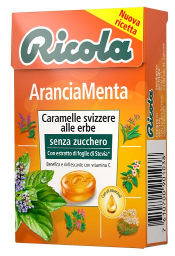 RICOLA ARANCIA MENTA SENZA ZUCCHERO 50 G - Parafarmaciaigiardini.it