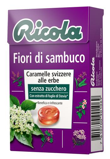 RICOLA FIORI DI SAMBUCO SENZA ZUCCHERO 50 G - Carafarmacia.it