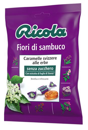 RICOLA FIORI DI SAMBUCO SENZA ZUCCHERO 70 G - Parafarmaciaigiardini.it