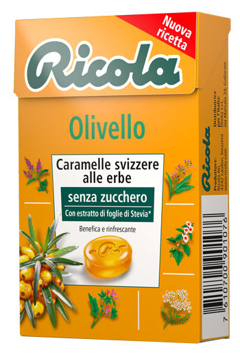 RICOLA OLIVELLO SPINOSO SENZA ZUCCHERO 50 G - Farmafamily.it