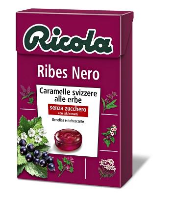 RICOLA RIBES NERO SENZA ZUCCHERO 50 G - Parafarmacia la Fattoria della Salute S.n.c. di Delfini Dott.ssa Giulia e Marra Dott.ssa Michela