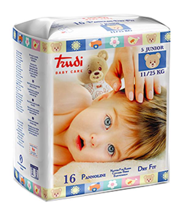 TRUDI BABY CARE PANNOLINO DRY FIT JUNIOR 11/25 KG 16 PEZZI - sapofarma.it