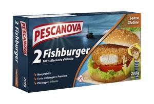 PESCANOVA FISH BURGER 200 G 2 PEZZI DA 100 G