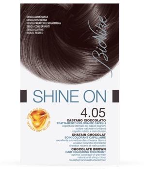 BIONIKE SHINE ON TRATTAMENTO COLORANTE CAPELLI CASTANO CIOCCOLATO 4.05 - Farmacia Massaro