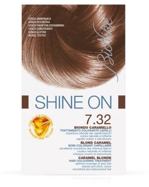BIONIKE SHINE ON TRATTAMENTO COLORANTE CAPELLI BIONDO CARAMELLO 7.32 - Carafarmacia.it