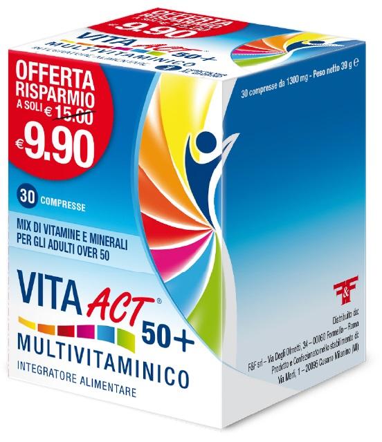 VITA ACT 50+ MULTIVITAMINICO 30 COMPRESSE - Farmaci.me