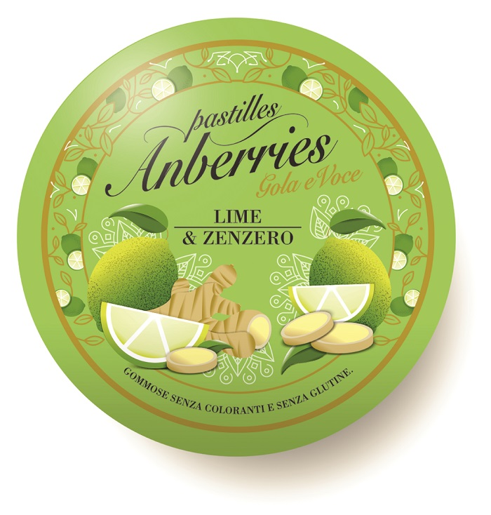 ANBERRIES LIME & ZENZERO 55 G -  Farmacia Santa Chiara