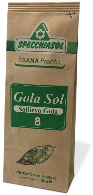 Specchiasol Tisana Pronta Gola Sol 8 Sollievo Gola 100 g