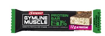 GYMLINE MUSCLE PROTEIN BARRETTA 27% ARACHIDI E CARAMELLO 45 G - farmaciafalquigolfoparadiso.it