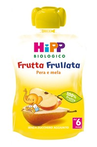 HIPP BIO FRUTTA FRULLATA PERA MELA 90 G - Farmajoy