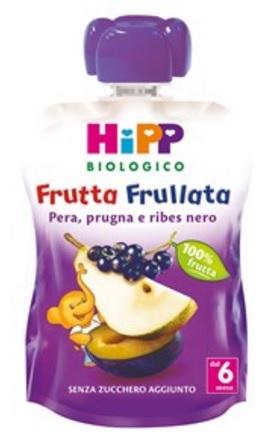 HIPP BIO FRUTTA FRULLATA PERA PRUGNA RIBES 90 G - Farmajoy
