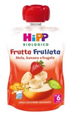 HIPP BIO FRUTTA FRULLATA MELA BANANA FRAGOLA 90 G - Farmajoy