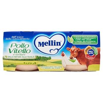 MELLIN OMOGENEIZZATO POLLO VITELLO CON VERDURE 2 X 80 G - Farmacia Centrale Dr. Monteleone Adriano