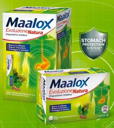 MAALOX EVOLUZIONE NATURA 36 COMPRESSE MASTICABILI - Farmaciaempatica.it
